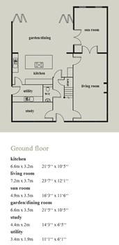 No 4 The Alcott with Sun & Garden Room Floor Plan